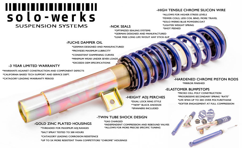 Solo-Werks Coilover Features