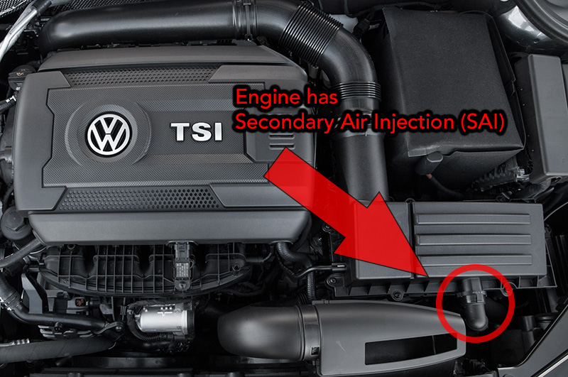 Secondary Air Injection Equipped