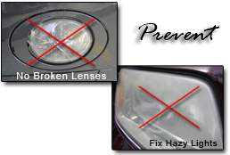 Prevent broken or hazy headlight lenses
